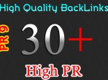 MANUALLY create High Quality 30 PR3-PR9 Backlinks