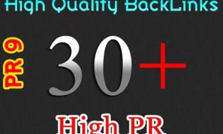 MANUALLY create High Quality 30 PR3-PR9 Backlinks